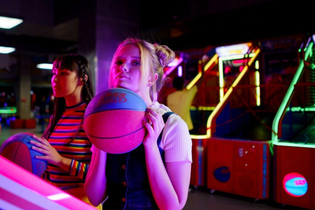 Basketball Date at the Arcade
