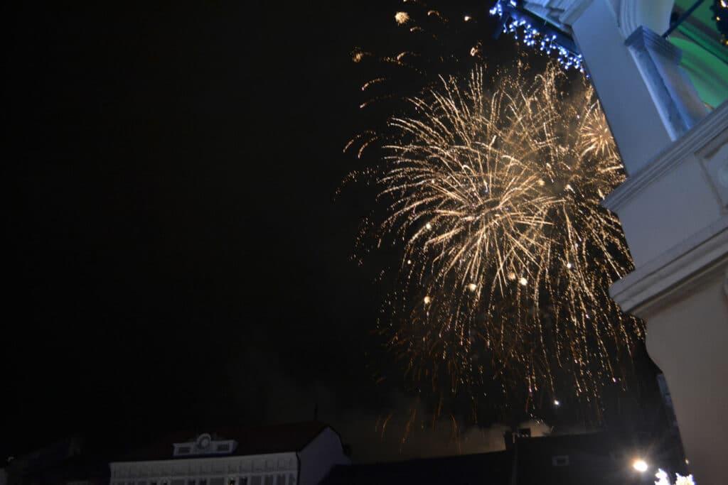 Fireworks at a Romanian Wedding