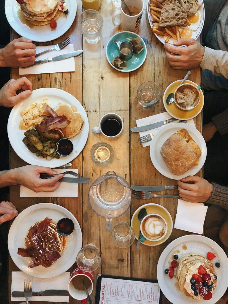 Large Family Dinner Gathering