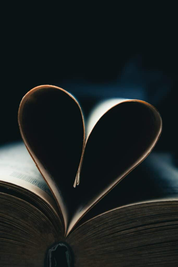 Love Stories Book with Heart-Shaped Pages
