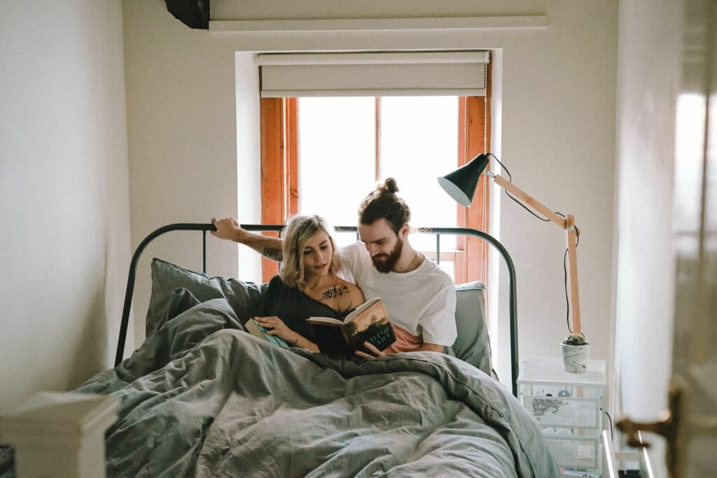 Reading Together in Bed