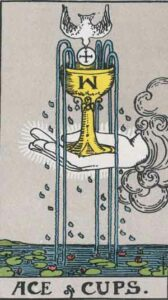 Ace of Cups Rider-Waite Tarot Card