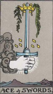 Ace of Swords Rider-Waite Tarot Card