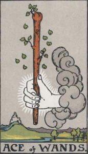 Ace of Wands Rider-Waite Tarot Card
