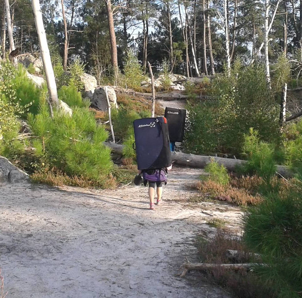 Hiking to the Campsite with Large Packs