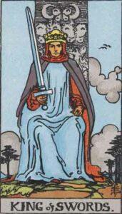 King of Swords Rider-Waite Tarot Card