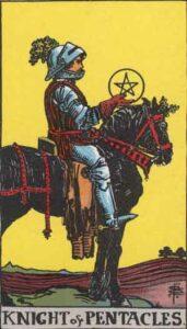Knight of Pentacles Rider-Waite Tarot Card