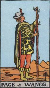 Page of Wands Rider-Waite Tarot Card