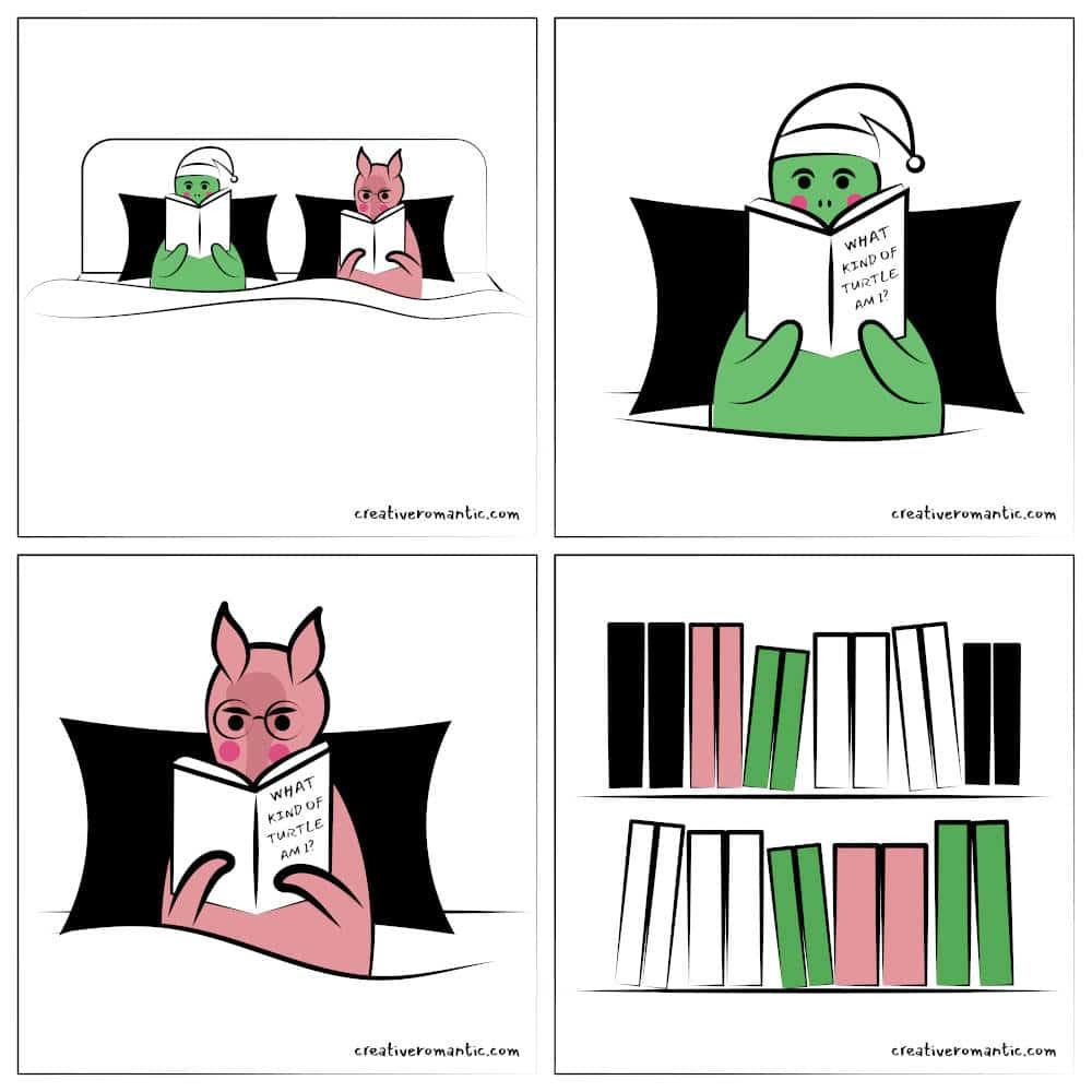 Reading Together Creates Intellectual Conversation Turtle Armadillo Comic