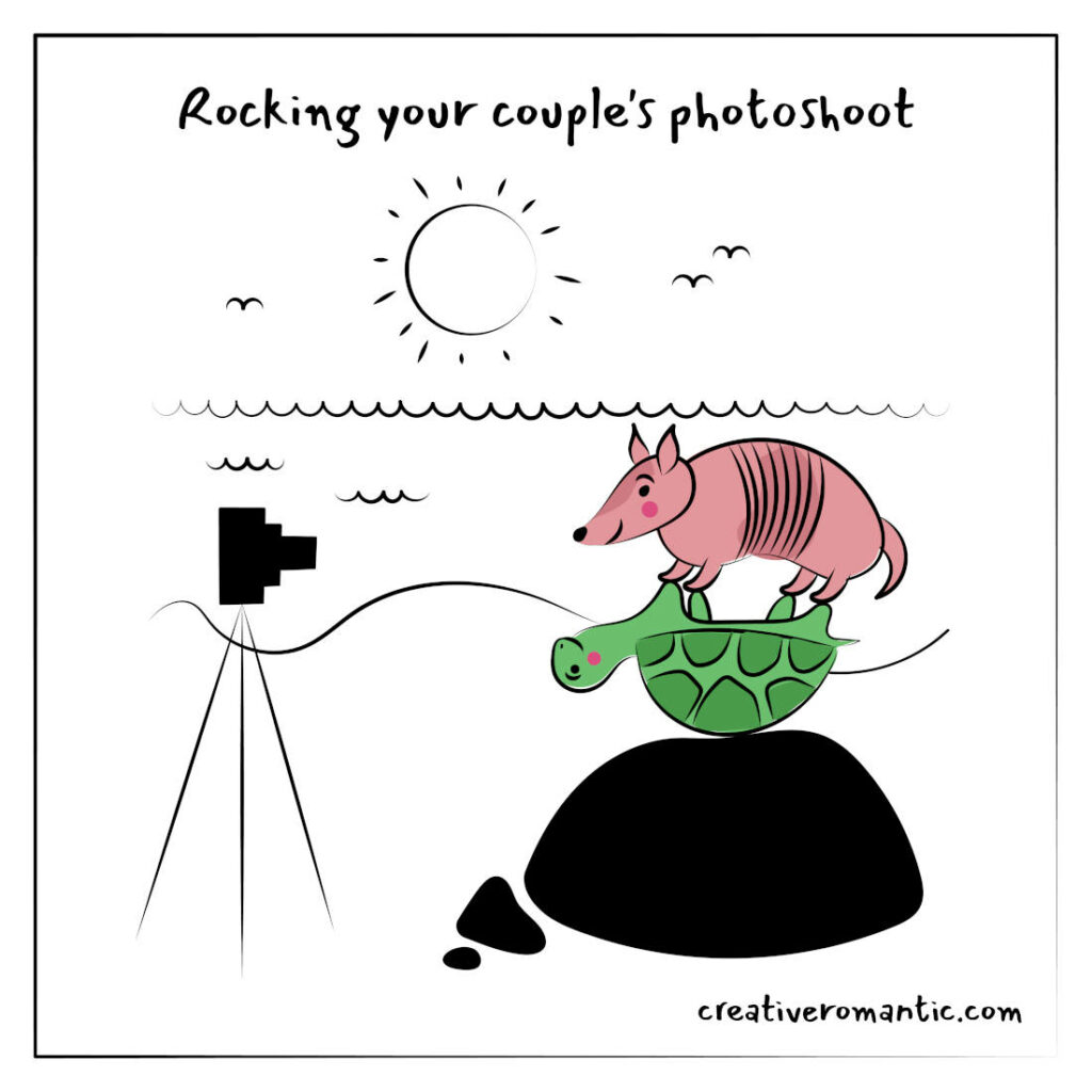 Rocking Your Couples Photoshoot Date with Creative Pose