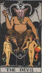 The Devil Rider-Waite Tarot Card