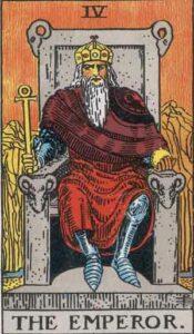 The Emperor Rider-Waite Tarot Card