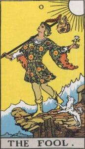 The Fool Rider-Waite Tarot Card