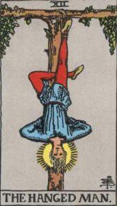 The Hanged Man Rider-Waite Tarot Card
