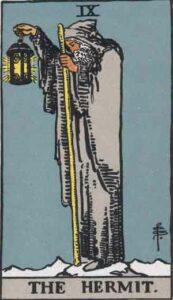 The Hermit Rider-Waite Tarot Card