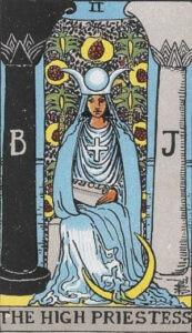 The High Priestess Rider-Waite Tarot Card