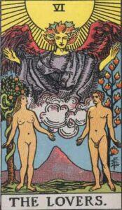 The Lovers Rider-Waite Tarot Card