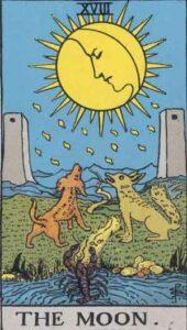 The Moon Rider-Waite Tarot Card