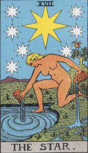 The Star Rider-Waite Tarot Card