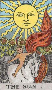 The Sun Rider-Waite Tarot Card
