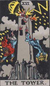 The Tower Rider-Waite Tarot Card