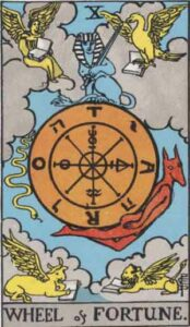The Wheel of Fortune Rider-Waite Tarot Card