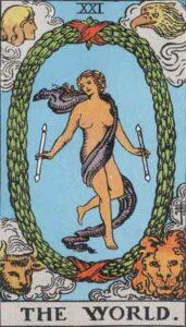 The World Rider-Waite Tarot Card