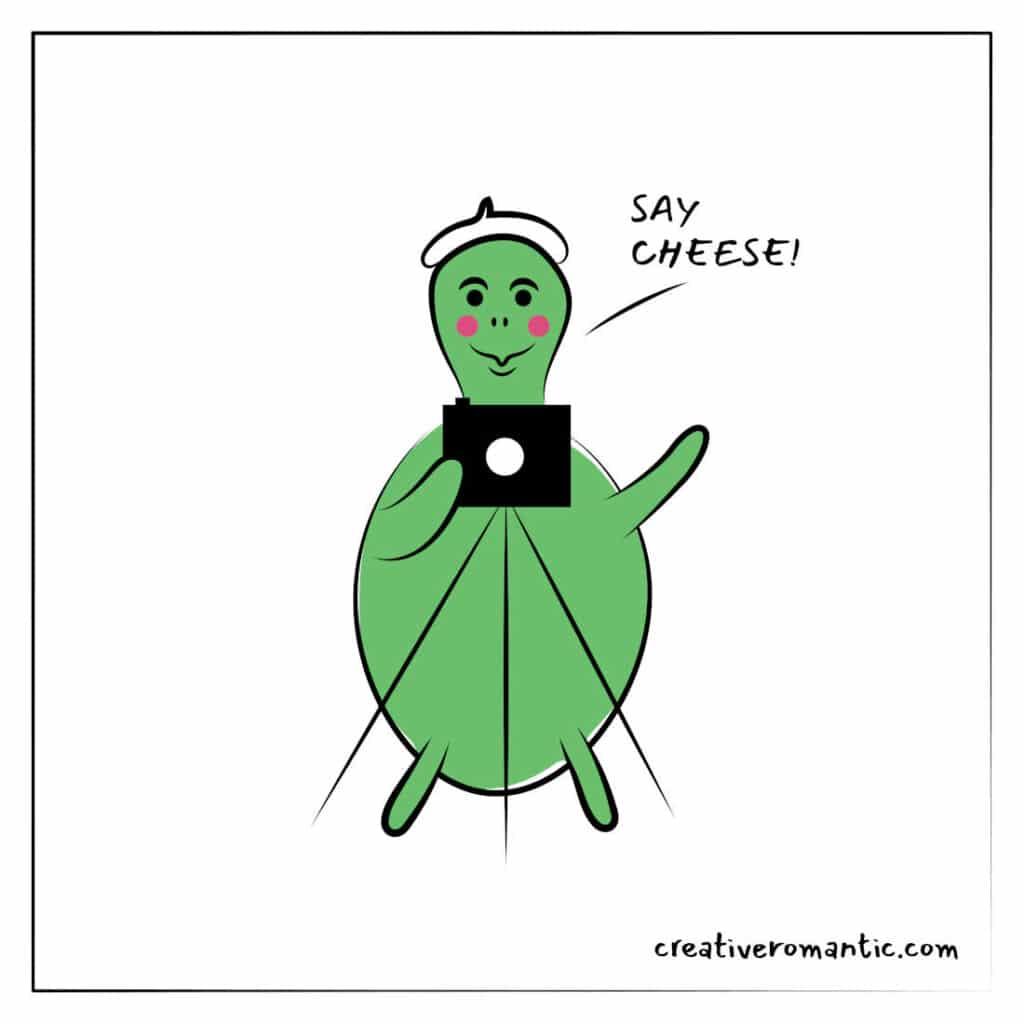 Turtle Photographer Saying Cheese