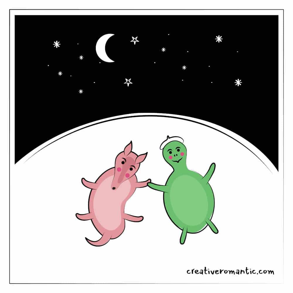 Stargazing in Love Turtle Armadillo Comic
